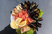 raw fish dinner