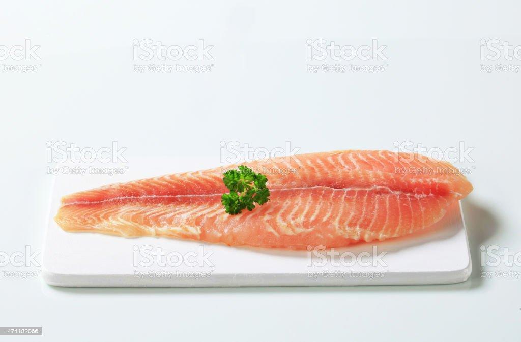 Raw fish fillet stock photo