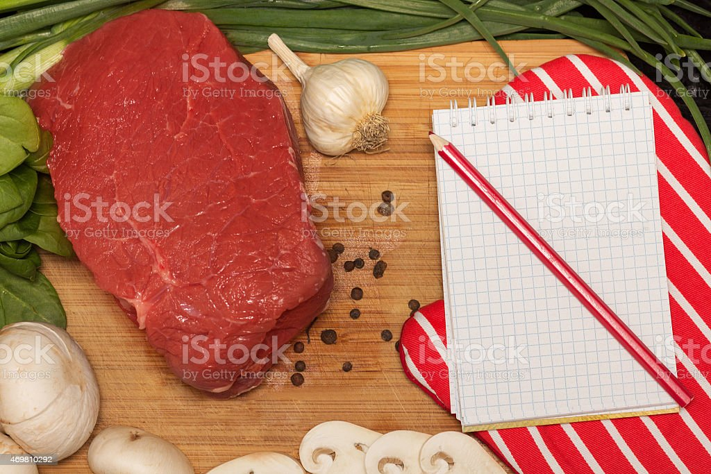Raw food background stock photo