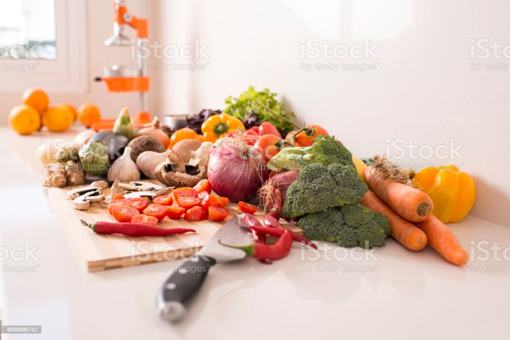 Raw food for healthy lifestyle. stock photo