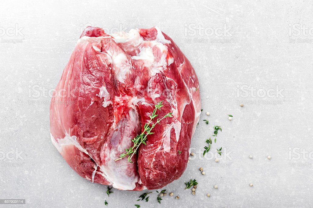 raw fresh cut of meat stock photo