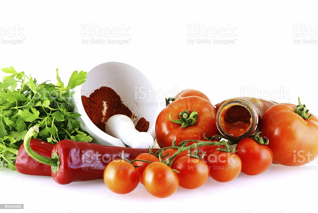 raw fresh ingredients for sause royalty-free stock photo