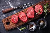 Raw fresh marbled meat Steak