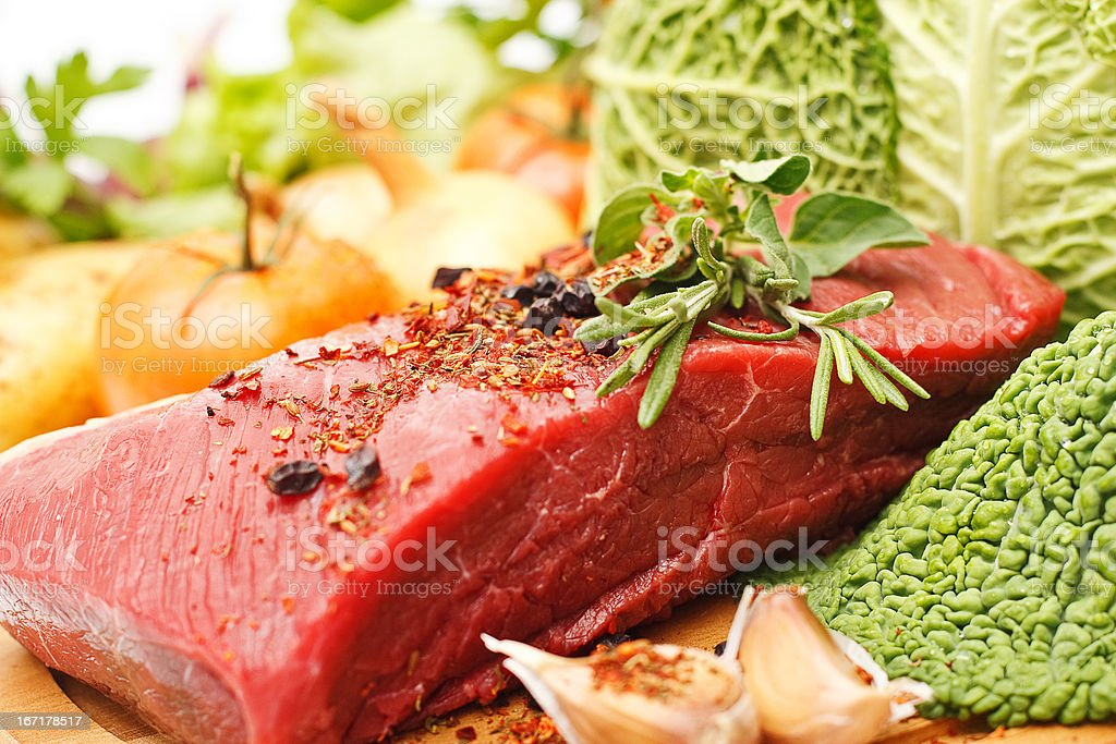 Raw fresh meat stock photo