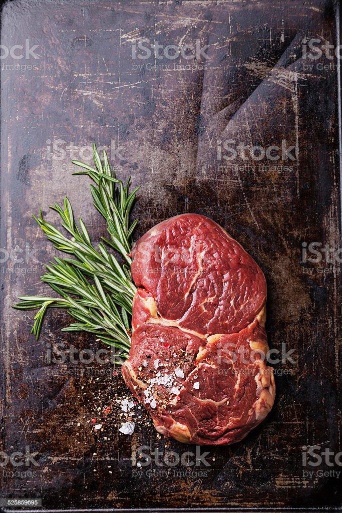 Raw fresh meat Ribeye-Steak – Foto