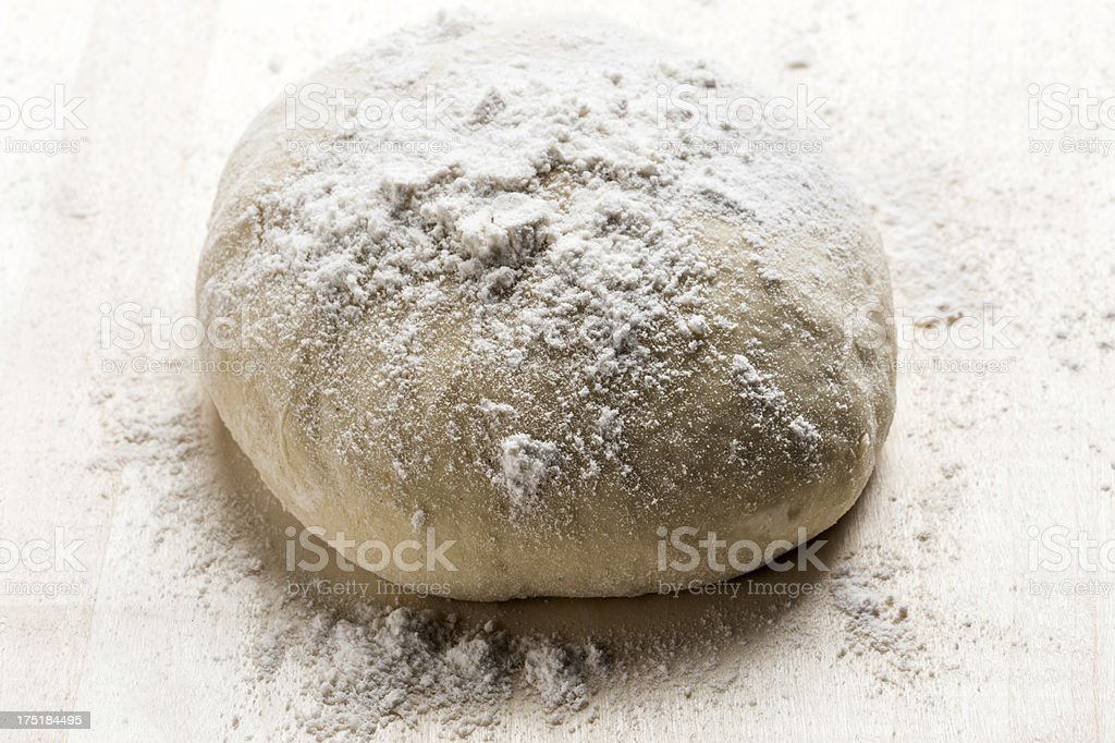 Raw fresh Pizza Dough royalty-free stock photo