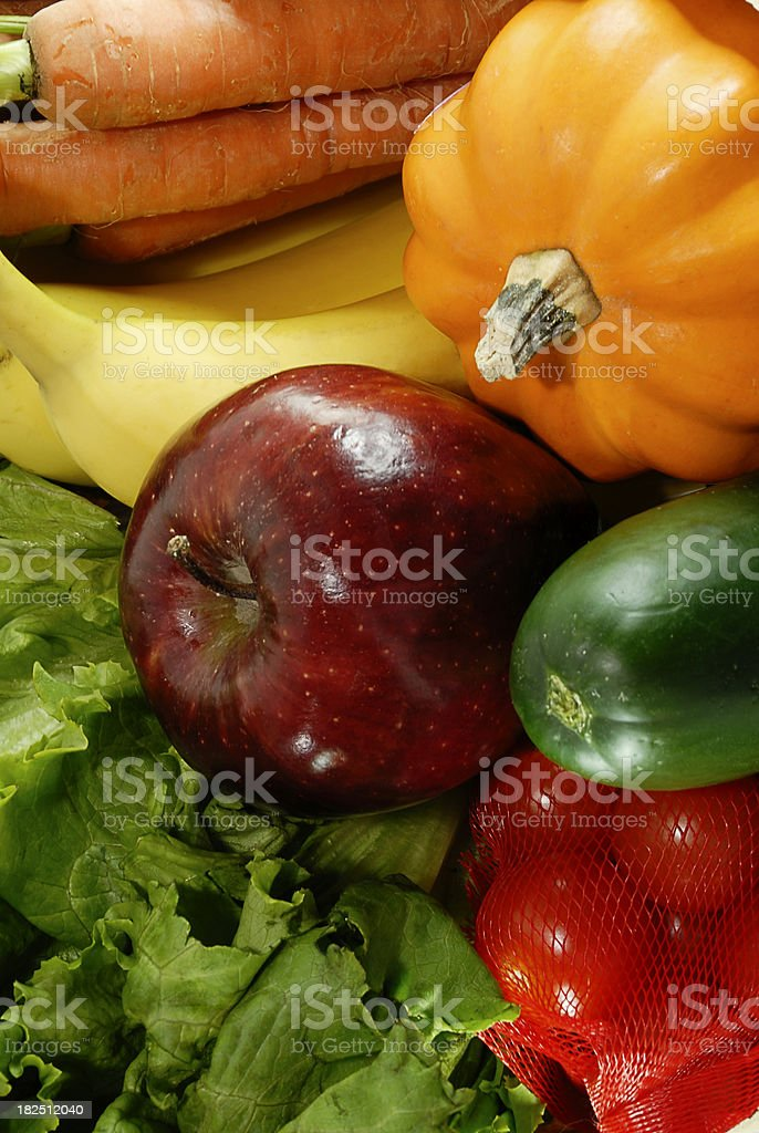 Raw Fruits and Vegetables royalty-free stock photo