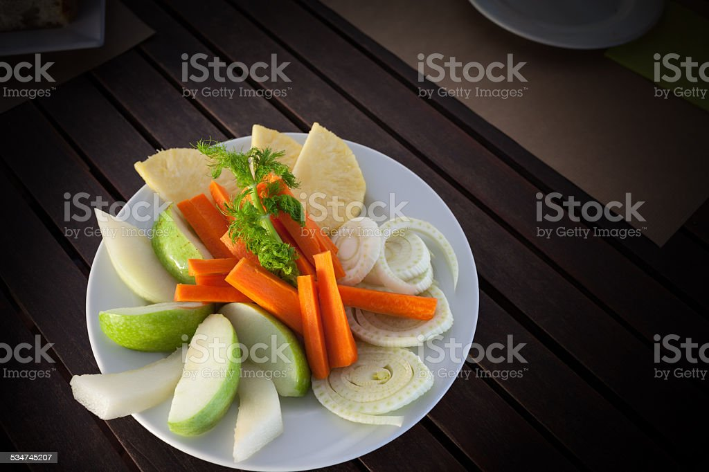 Raw Fruits And Vegetables stock photo