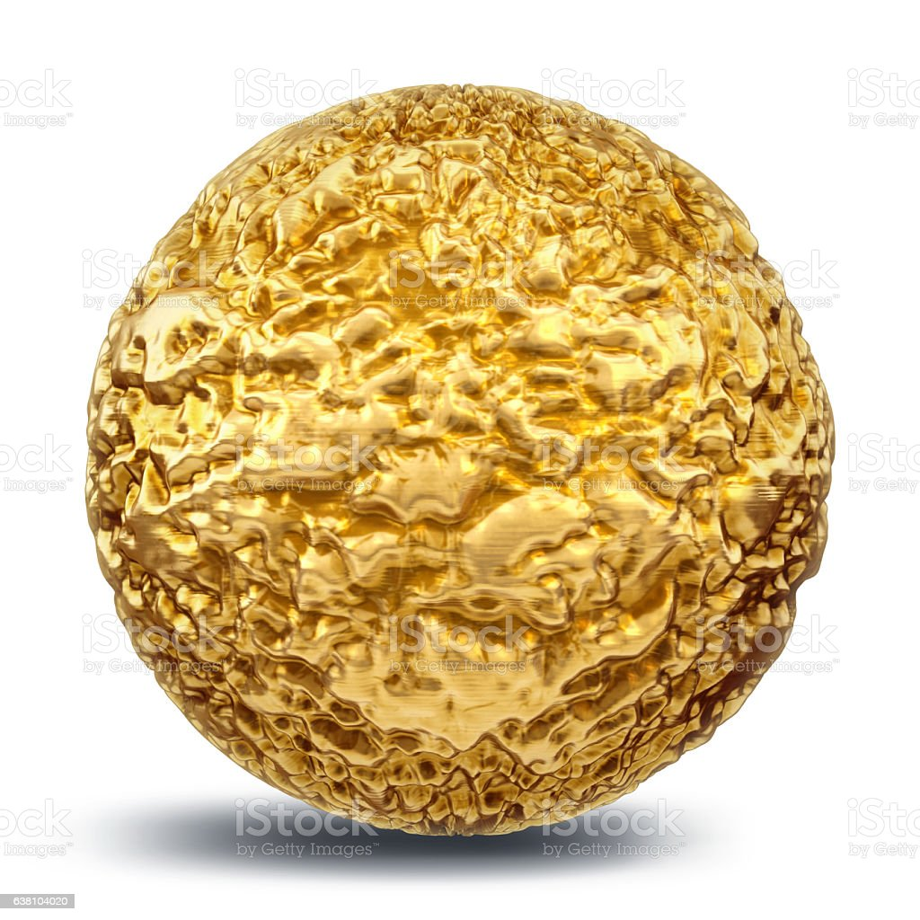 Raw gold nugget stock photo
