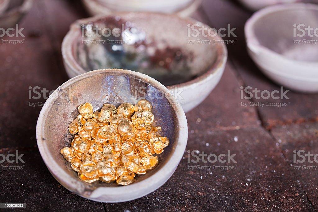 Raw gold stock photo