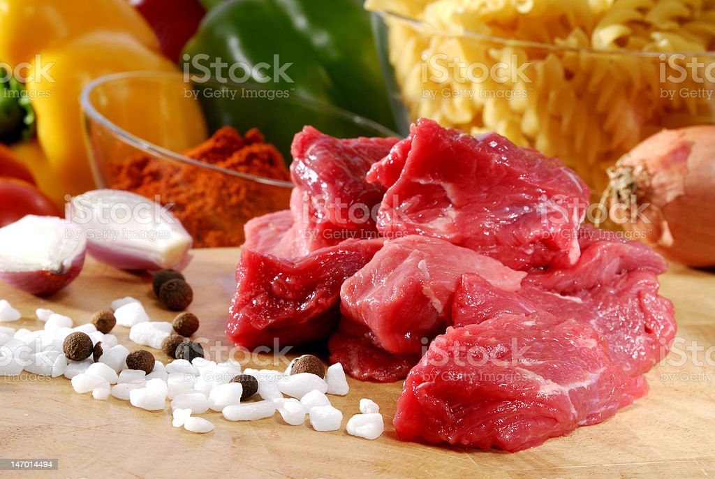 raw goulash royalty-free stock photo