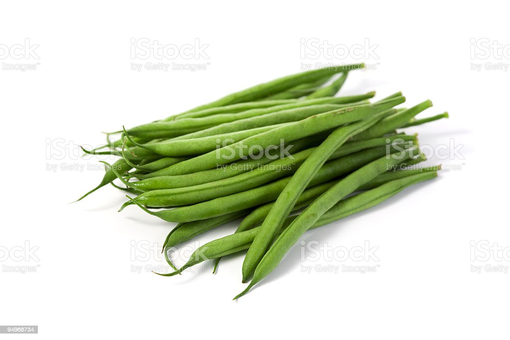raw green beans isolated royalty-free stock photo