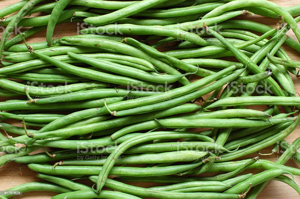 Raw Green Beans royalty-free stock photo