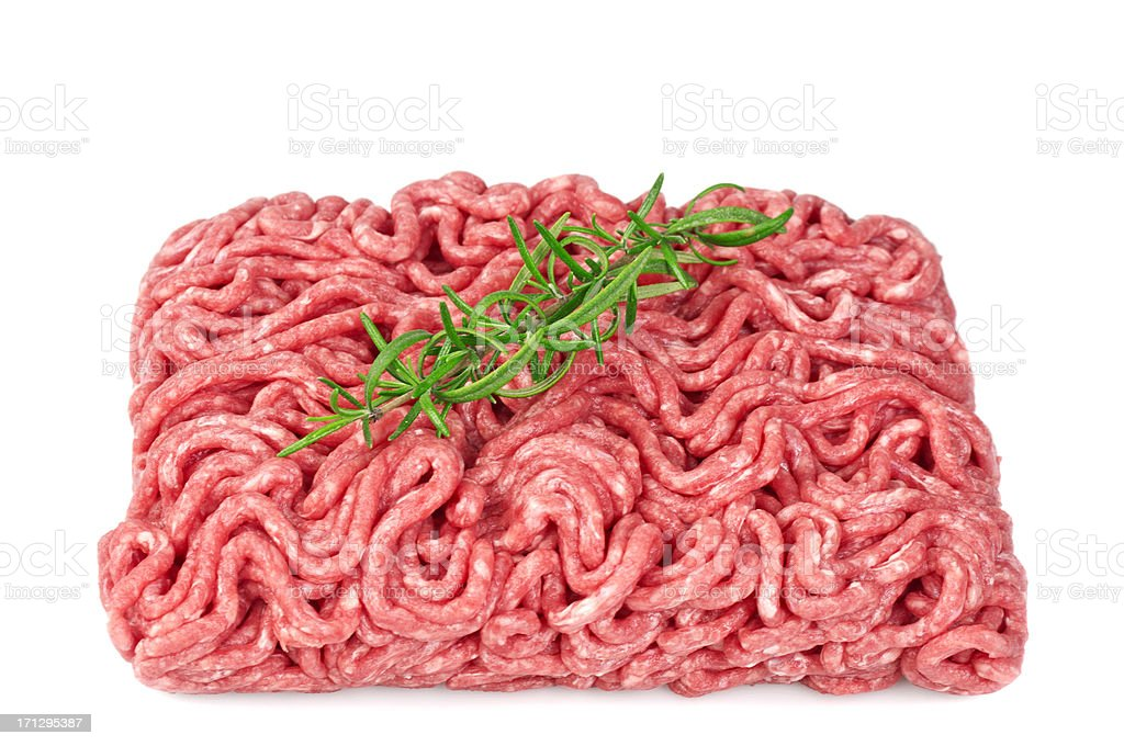 Raw ground beef royalty-free stock photo