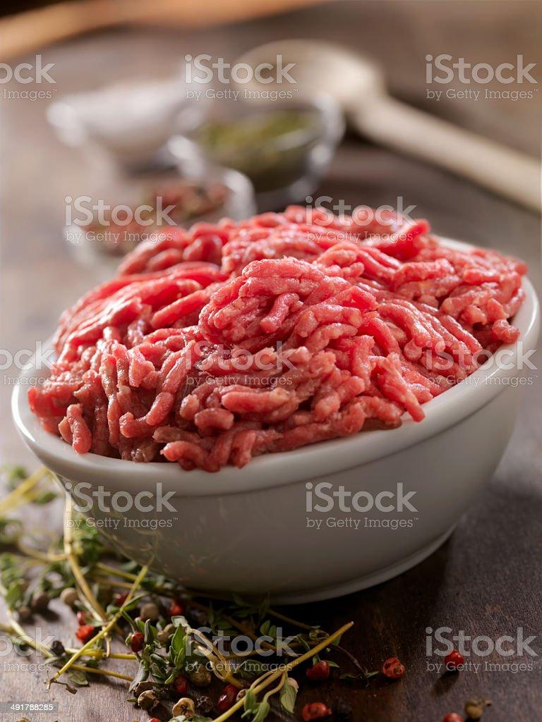 Raw Ground Meat stock photo