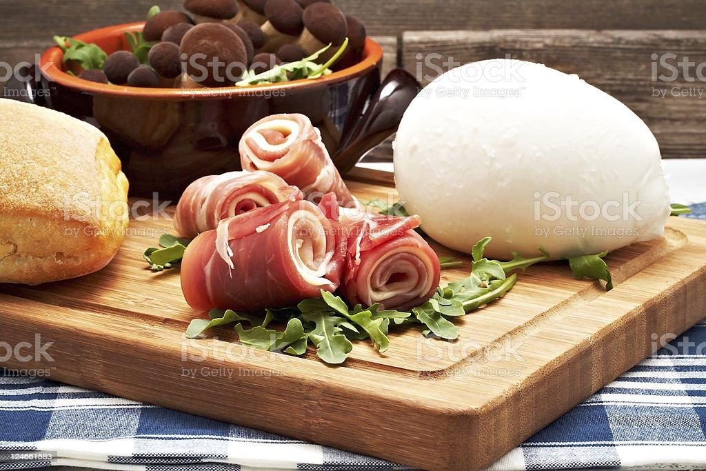 raw ham royalty-free stock photo