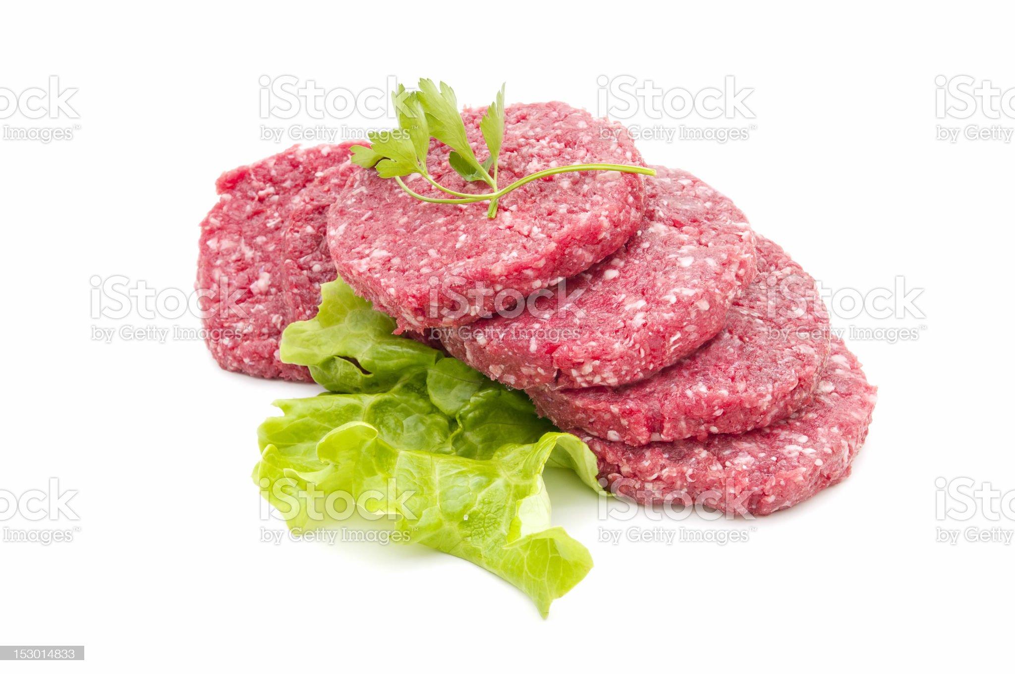 raw hamburger royalty-free stock photo