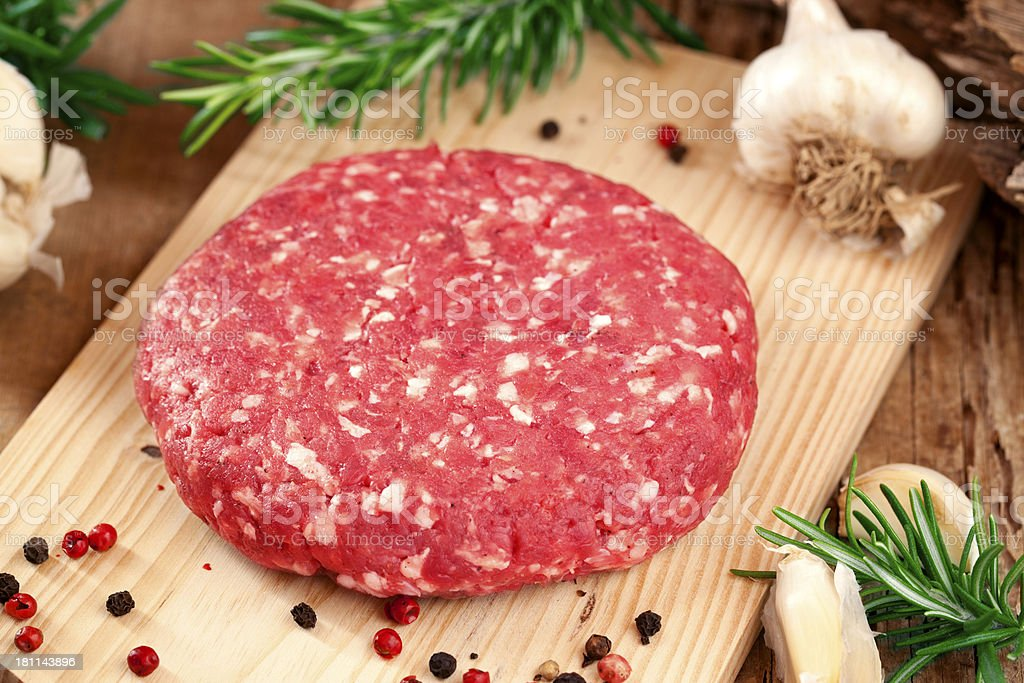 Raw hamburger royalty-free stock photo