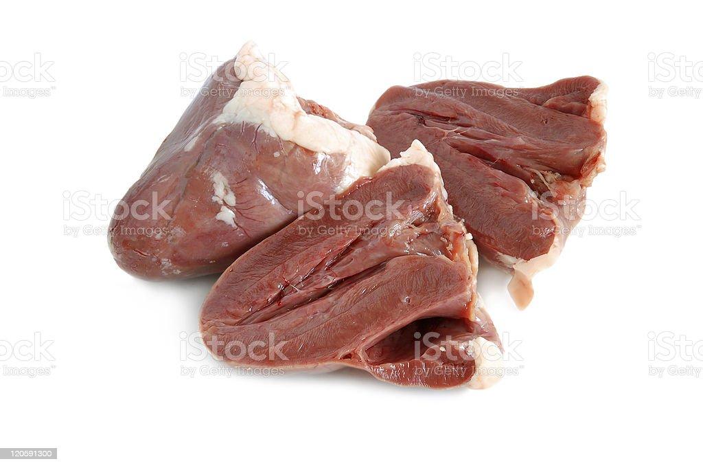 Raw hearts stock photo