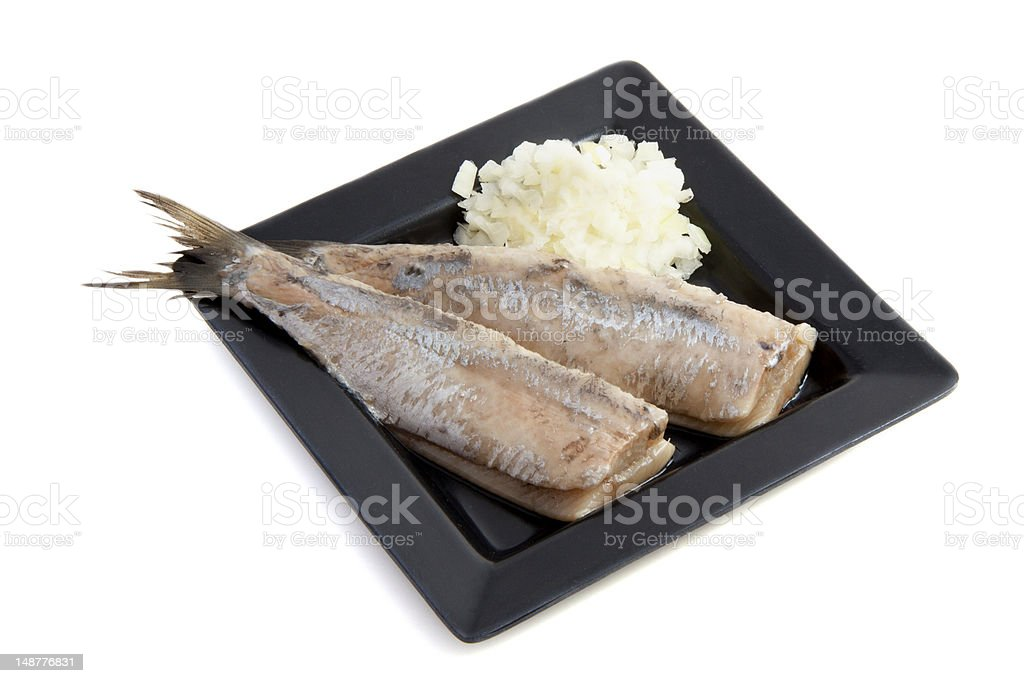 Raw herring stock photo