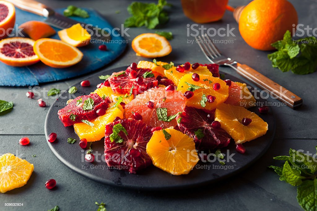 Raw Homemade Citrus Salad stock photo