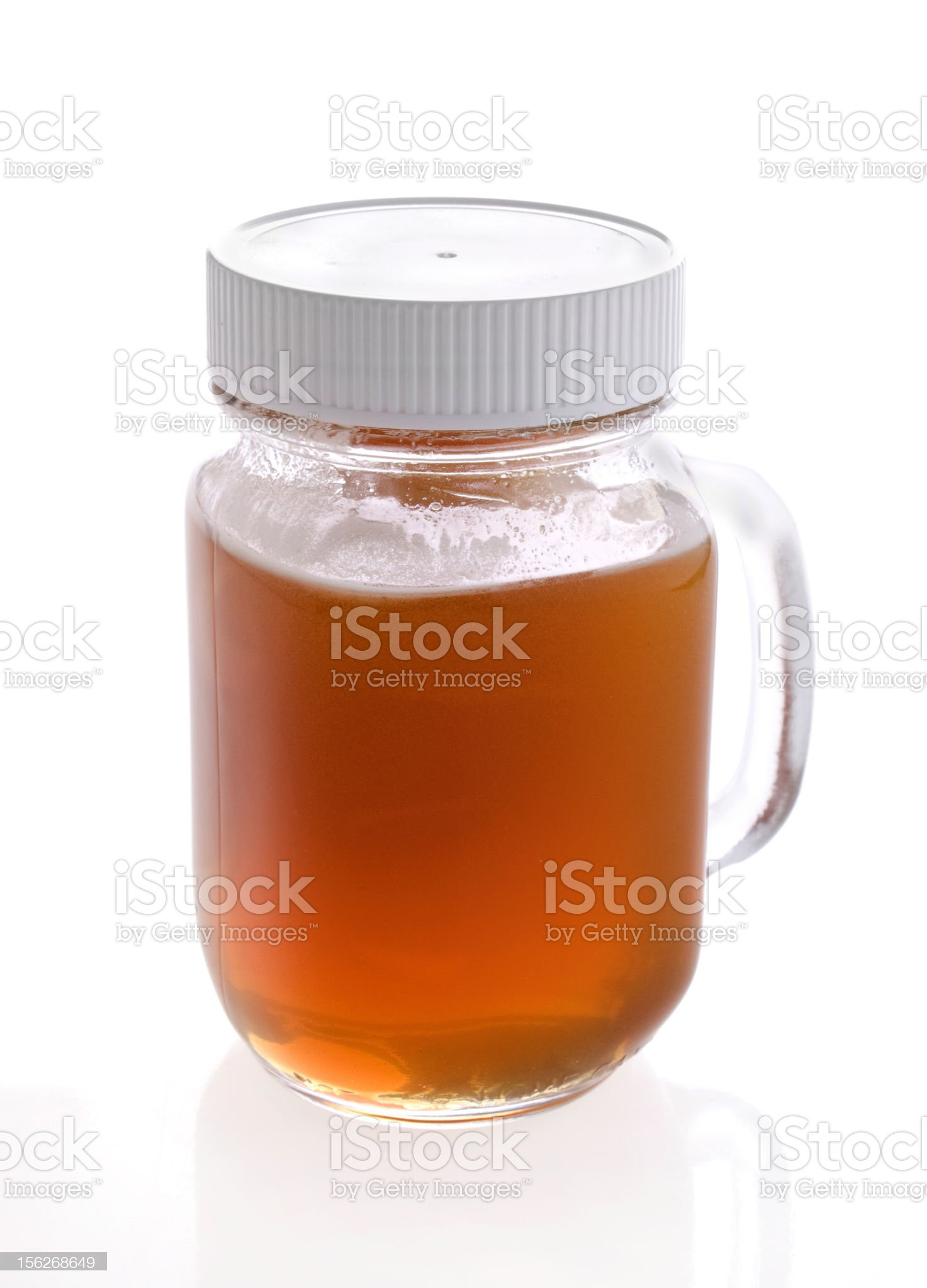 Raw honey in a jar royalty-free stock photo