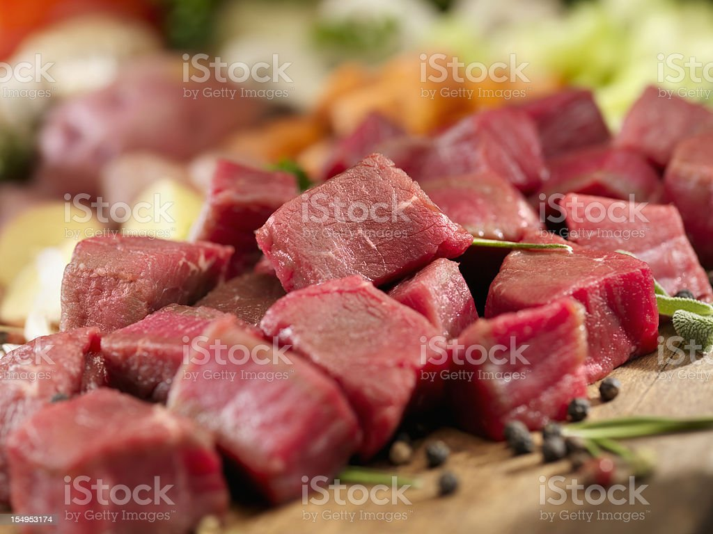 Raw Ingredients for Beef Stew royalty-free stock photo