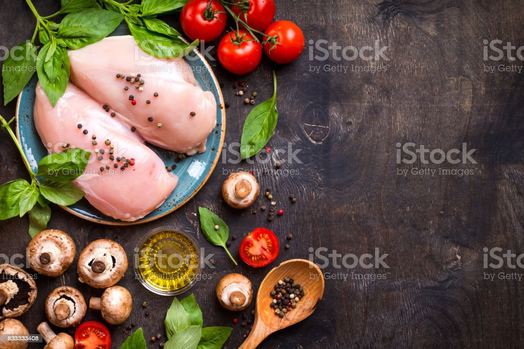Raw ingredients for cooking stock photo