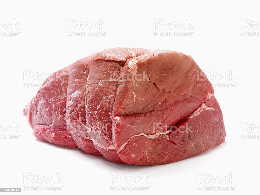Raw, Inside Round Beef Roast royalty-free stock photo