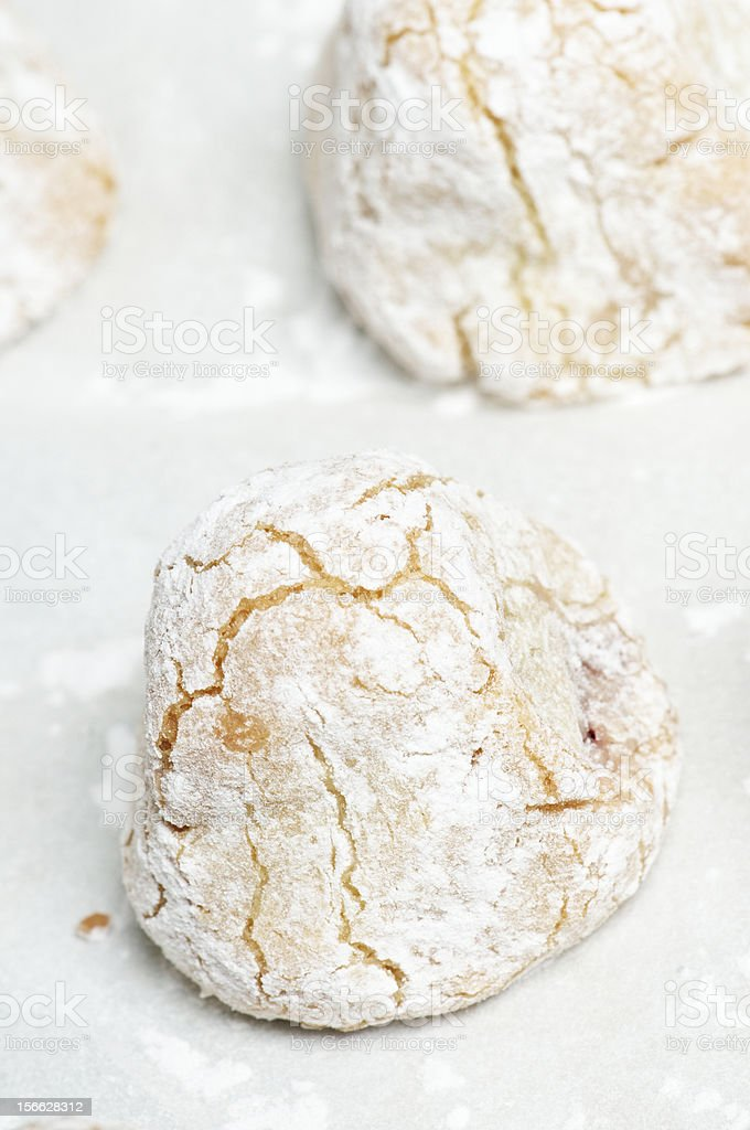 Raw Italian Cookie royalty-free stock photo