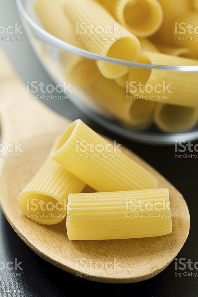 Raw italian pasta stock photo