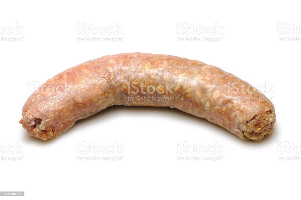 Raw italian sausage royalty-free stock photo