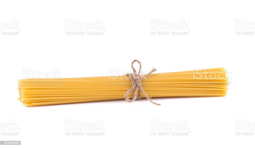 Raw italian spaghetti. stock photo