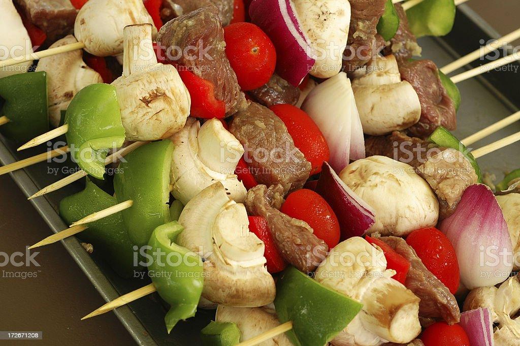 raw kebabs royalty-free stock photo