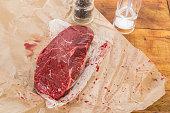 Raw Kobe Sirloin Steak
