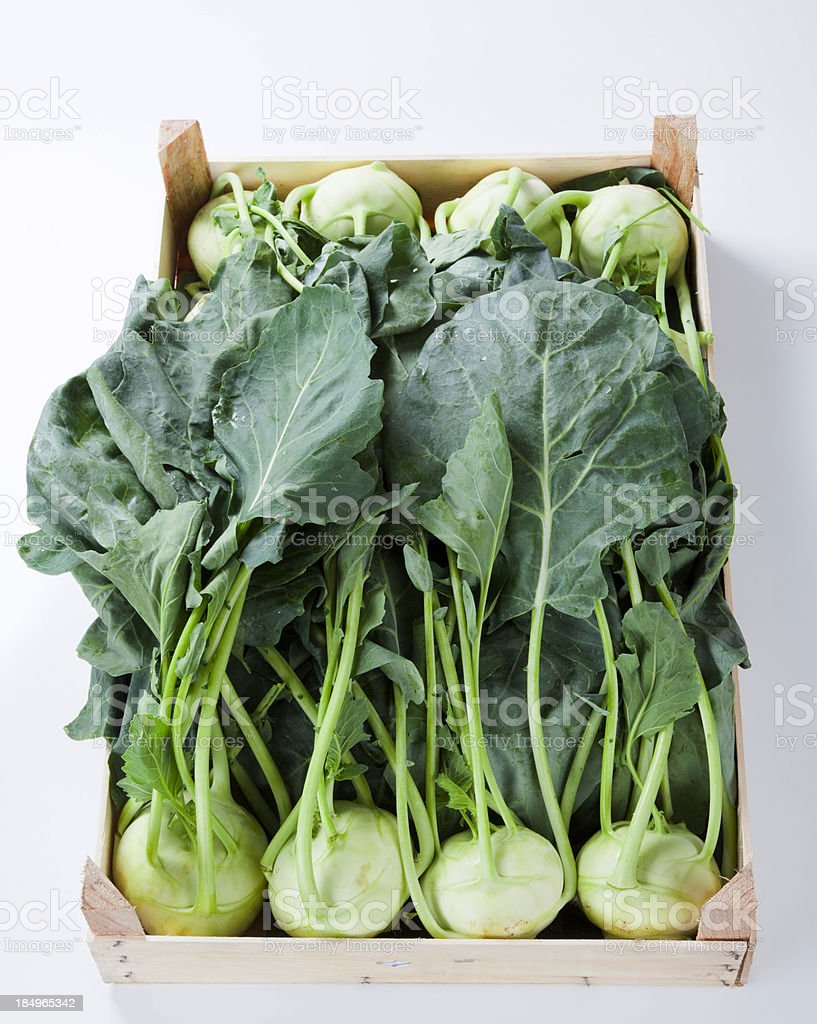 Raw kohlrabi stock photo