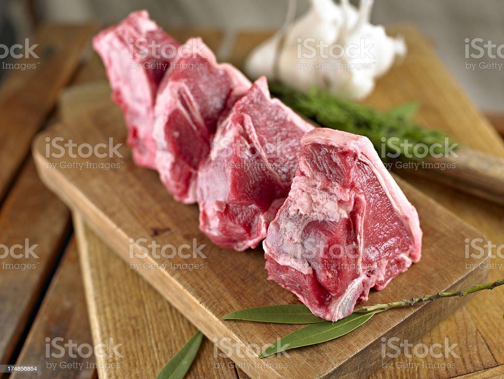 Raw Lamb Chop royalty-free stock photo