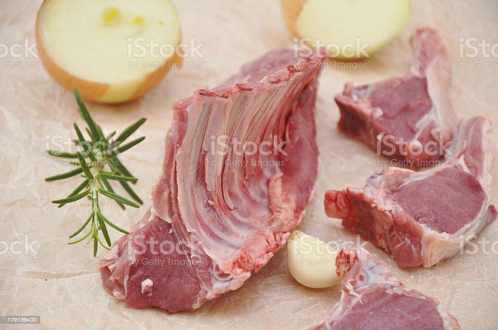 Raw Lamb Meat royalty-free stock photo
