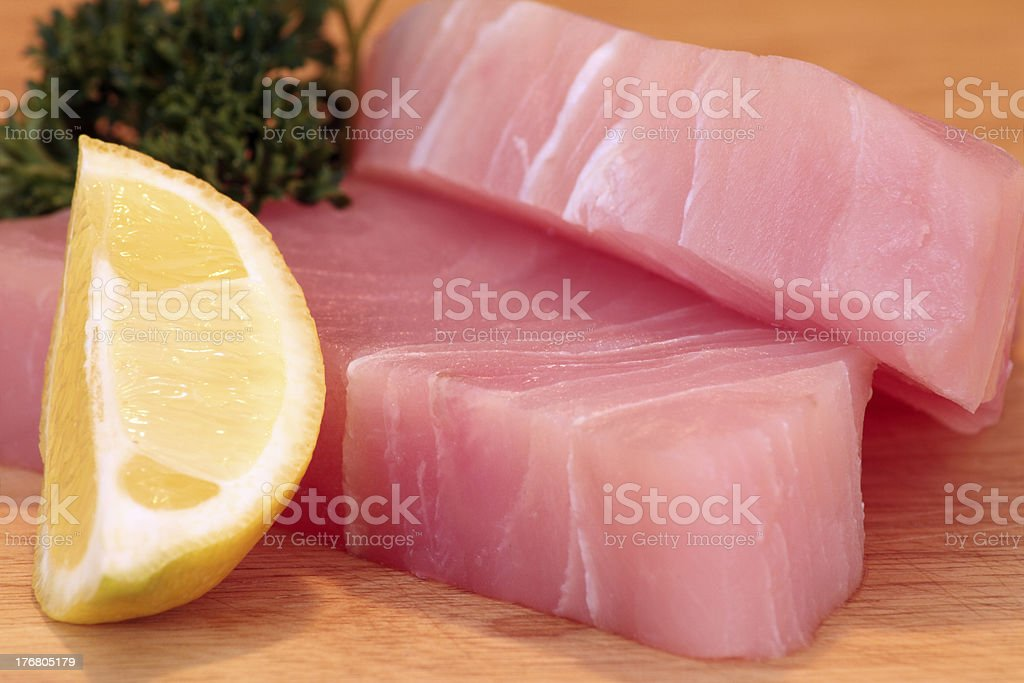 Raw Marlin Steaks royalty-free stock photo