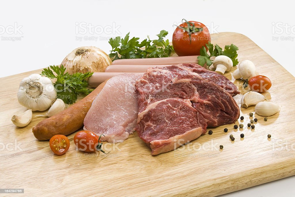 raw meat assortment royalty-free stock photo