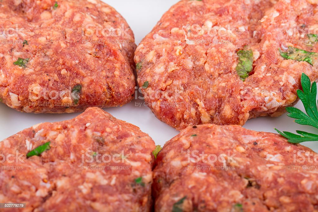 Raw Meat, Beaf, Meatball, Cutlet, Chop, Beyti stock photo
