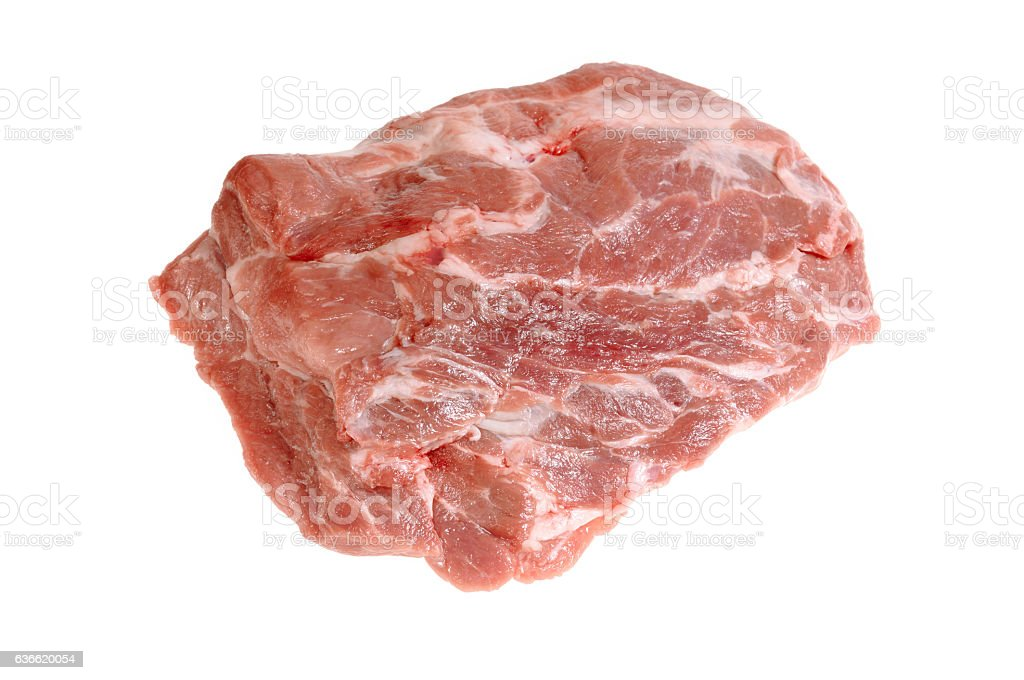 Raw meat isolated on white background stock photo