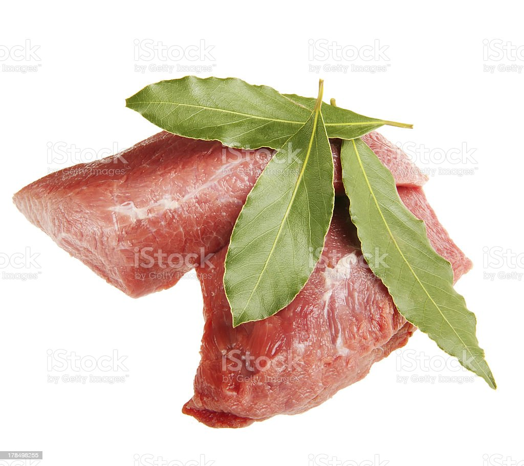 raw meat isolated on white royalty-free stock photo