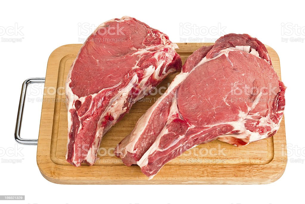 Raw meat isolated royalty-free stock photo