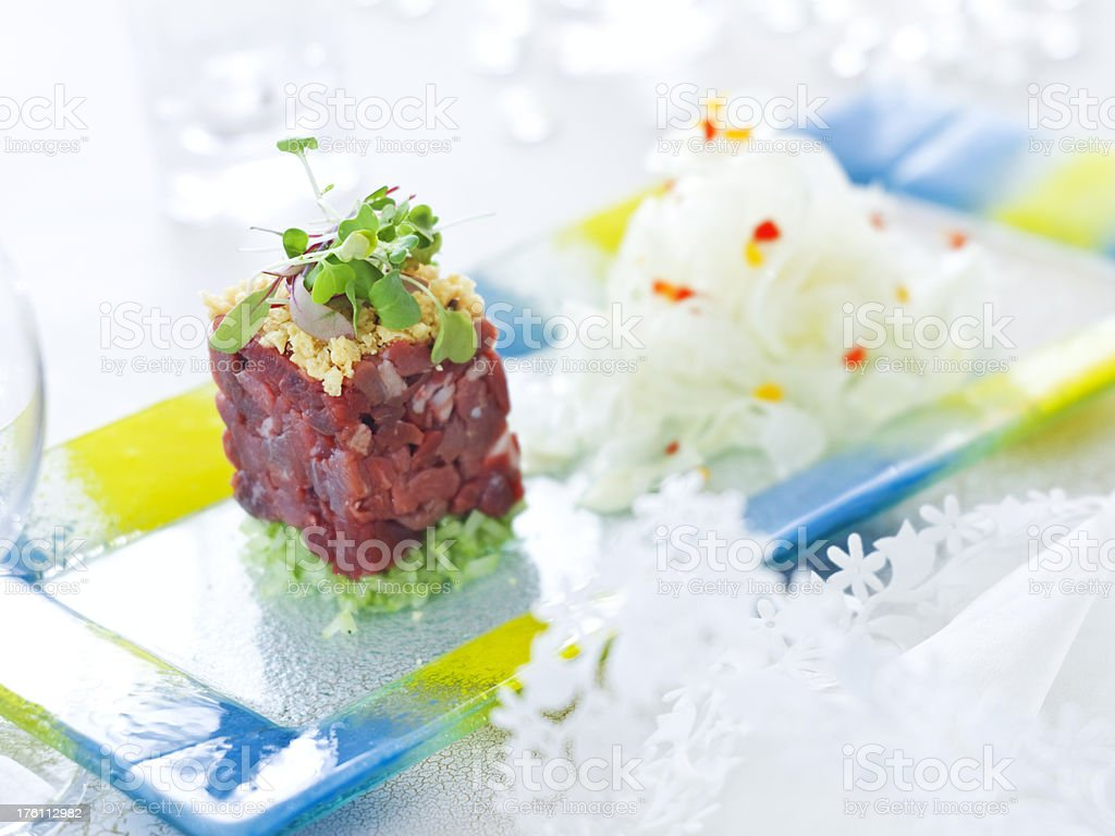 Carne Cruda stock photo