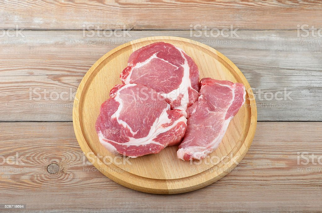 Raw meat steak stock photo