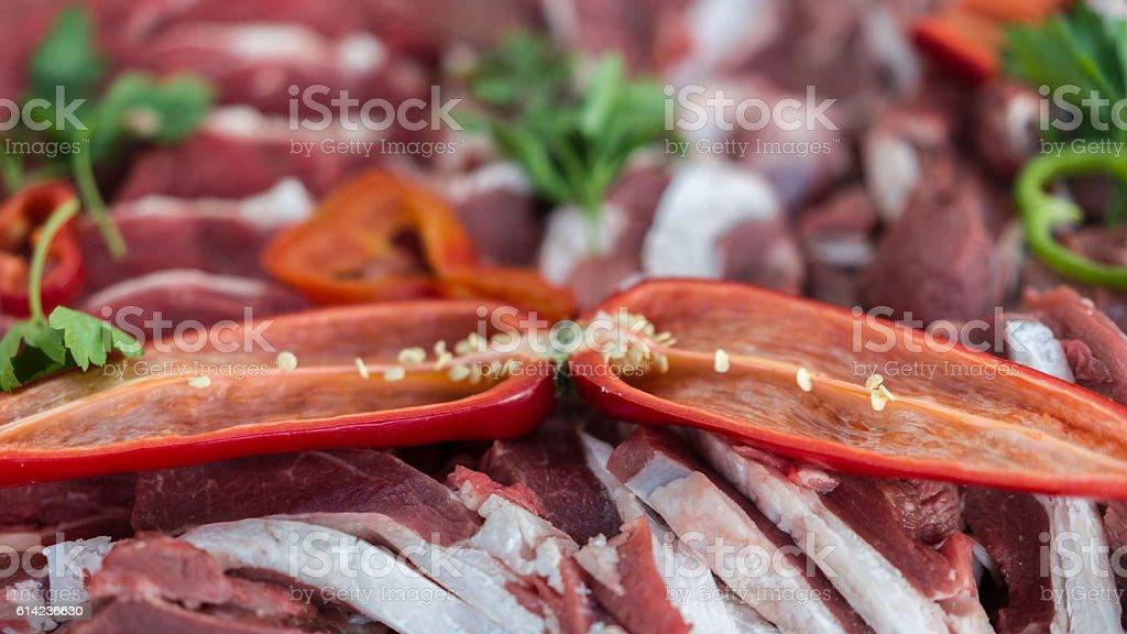 raw meat Steaks stock photo