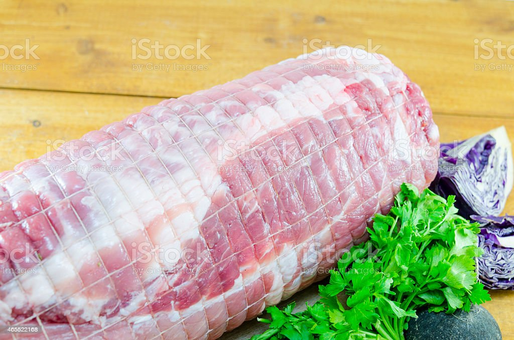 Raw meatloaf on a cutting board royalty-free stock photo