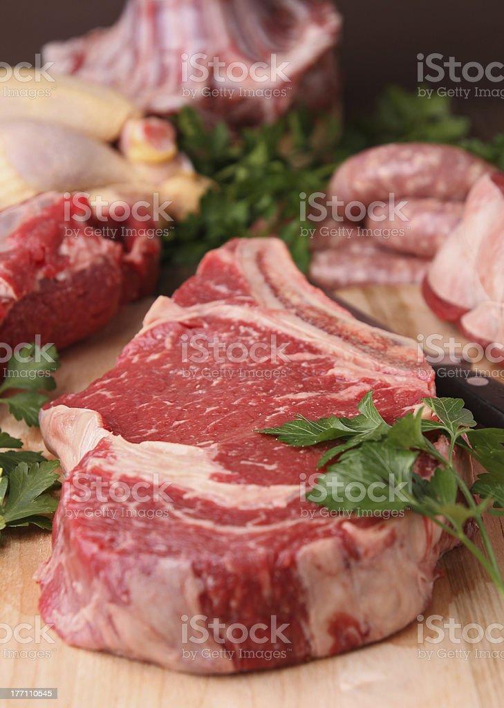 raw meats stock photo