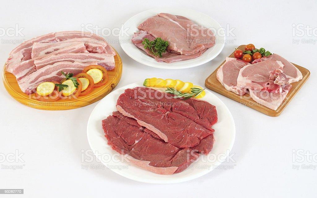 Raw meats. royalty-free stock photo